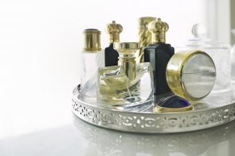 Antique Vanity Mirror Tray