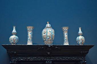 Antique Vases On Table