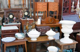 Variety of antique items