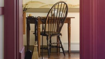 windsor chair at desk