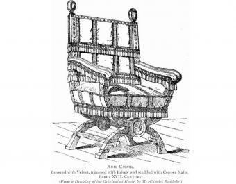 Antique Eastlake Chair drawing