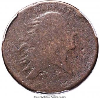 1793 Strawberry Leaf Cent