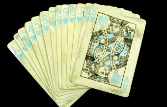 Antique Hand of Poker Cards