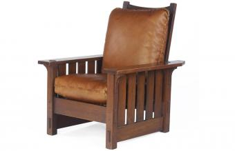 Morris Chair with Leather Cushions