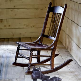 Antique Sewing Rocking Chair