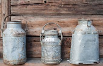 Traditional milk canister