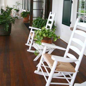Ladderback wooden rocking chairs
