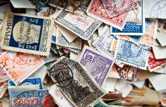 Collection of antique postage stamps