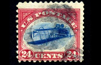 Inverted Jenny 24 cent airmail stamp