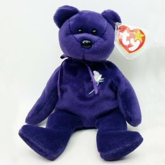 TY Beanie Baby Princess Diana Purple Bear 1997