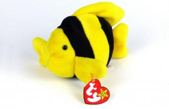 Bubbles The Fish TY Beanie Baby 1995