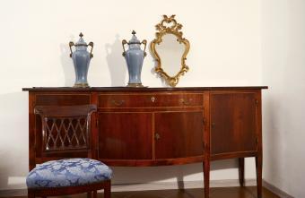 Vintage furniture and a Rococo mirror