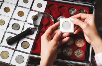 Box with collectible coins