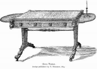 Sheraton design of sofa table