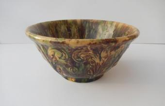Morton Pottery Woodland Glaze Mixing Bowl