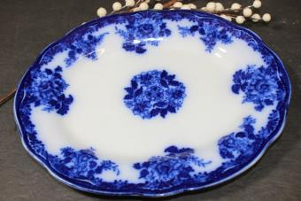Antique Flow Blue Waldorf New Wharf Pottery