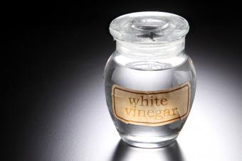 White Vinegar In Jar On Table