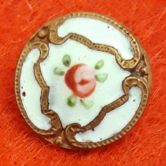 Antique french champleve button