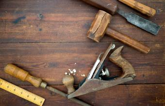 Work tools on table