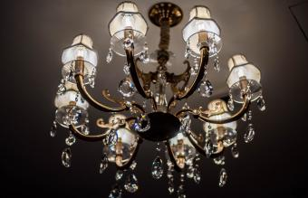 An old-fashioned chandelier