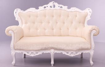 white sofa in victorian style