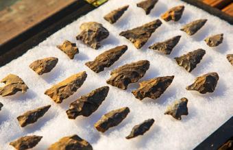 Ancient native american arrowheads