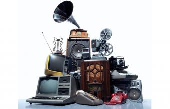 Pile of old technology