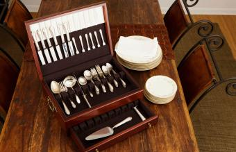 silver flatware chest