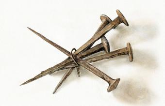 antique iron nails