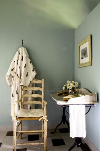 Renovated Provencal country house with an antique ladder back chair
