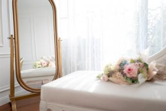 Interior decoration with classical style and a floor mirror