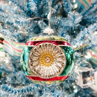 vintage glass ball Christmas tree ornament