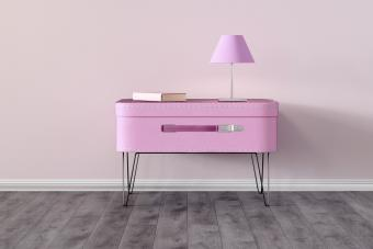 Suitcase as table, upcycling