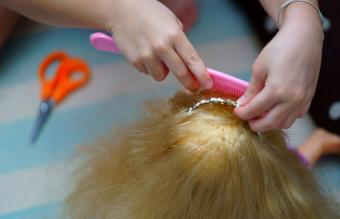 Combing Doll Hair At Home