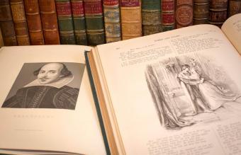 Antique copy of William Shakespeare book