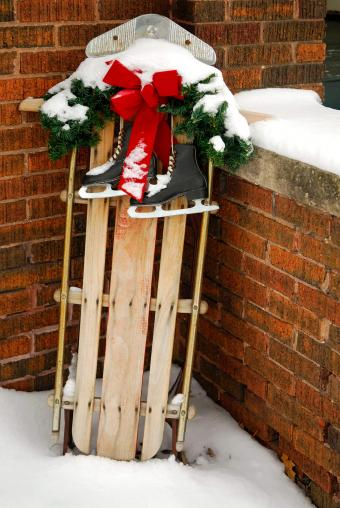 wooden sled decor