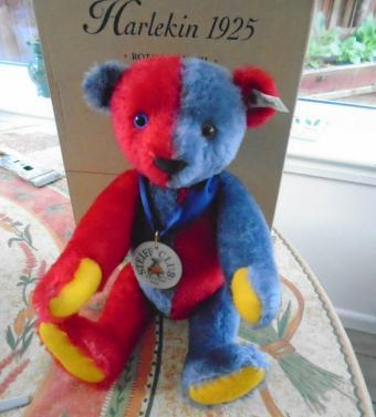 Harlequin Teddy Bear of 1925 Replica