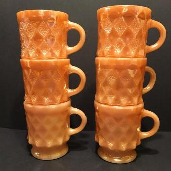Fire King Peach Lustre coffee mug