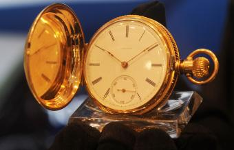 vintage 1872 Longines pocket watch