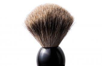 black shaving brush