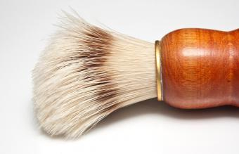 shaving brush with horse hair bristles
