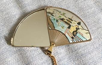 Vintage Japanese small purse mirror