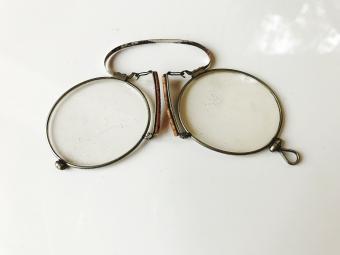Closeup of antique eyeglasses