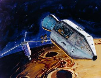 Artistic rendition of Apollo 15 subsatellite