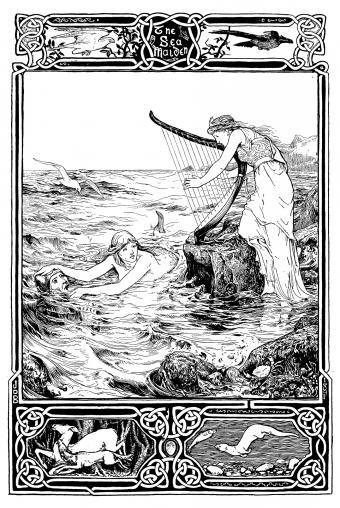 Antique art Nouveau illustration from a children's book