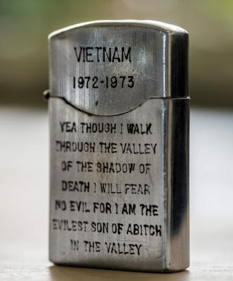 Zippo lighter from Vietnam 1972-1973