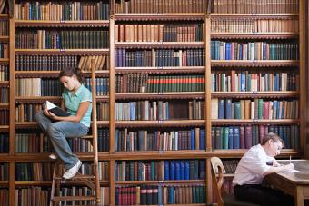 Students in old library