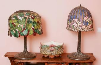 Two Tiffany lamps