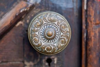 Antique brass doorknob