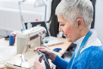 Seamstress sewing